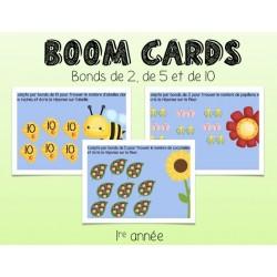 Boom Cards - compter par bonds de 2, 5 ou 10