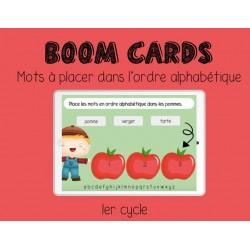 Boom Card - ordre alphabétique