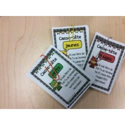 cartes de réussie casse-tête