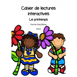 Cahier de lectures interactives - Le printemps
