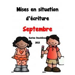 Mises en situation d'écriture-Septembre
