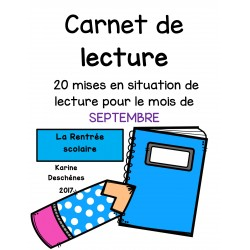 20 situations de lecture-Septembre