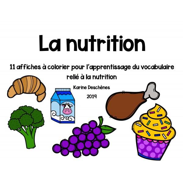 Murales pour le mur de mots-La nutrition
