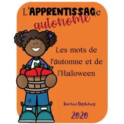 Apprentissage autonome: Mots Halloween-Automne