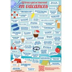 Poster : 50 trucs qui m'énervent en vacances