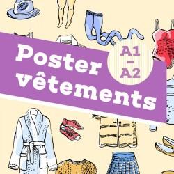 Poster vocabulaire A1-A2 – Les vêtements
