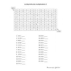 Labyrinthe des multiplications 3