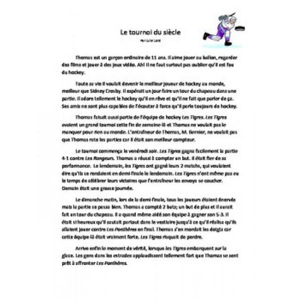 Compréhension de lecture- Le tournoi du siècle