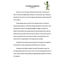 The treehouse adventure - reading comprehension