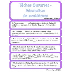 Résolutions de problèmes- mathématiques