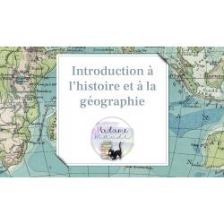 Introduction à l'histoire et à la géographie