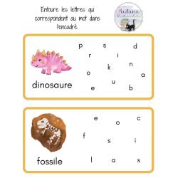 Reconnaissance des lettres - dinosaures