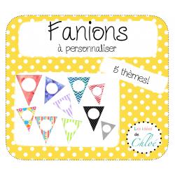 Fanions - 5 thèmes différents! -
