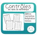 32 Contrôles des tables de mathématique!