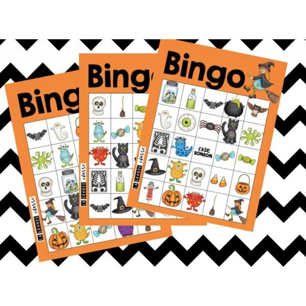 Bingo pour l'Halloween