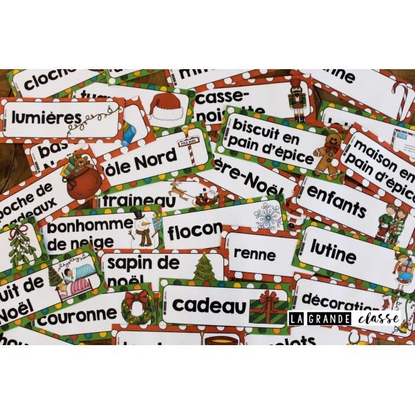 Mots étiquettes Noël