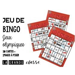 Jeu de bingo pour les Jeux olympiques d'hiver