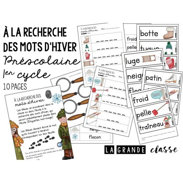 Français-Atelier d'hiver préscolaire/1er cycle