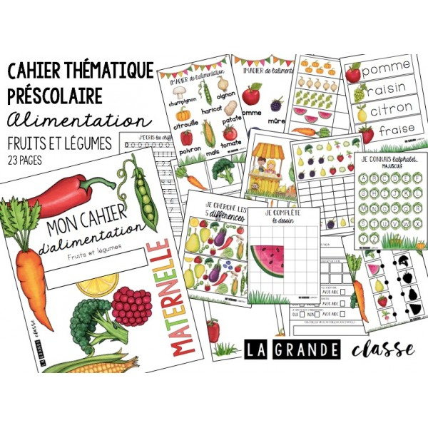 Cahier thématique alimentation préscolaire
