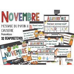 Novembre- causerie et message du matin