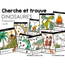 Atelier Cherche et trouve - Dinosaures préscolaire