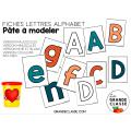 Fiche alphabet pâte à modeler