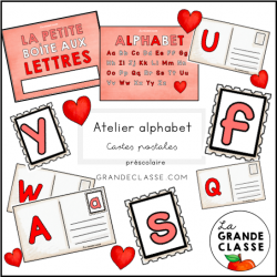 Atelier alphabet-cartes postales