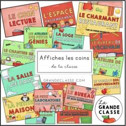 Affiches coins de la classe
