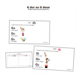 Aide-mémoire et exercice sur le G dur et le G doux