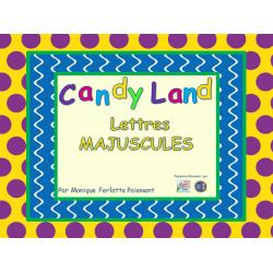 Cartes Candyland - Lettres majuscules