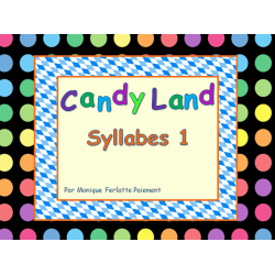 Cartes Candyland - Syllabes 1