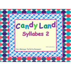 Cartes Candyland - Syllabes 2