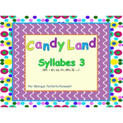 Cartes Candyland - Syllabes 3