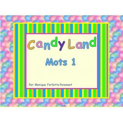 Cartes Candyland - Mots 1