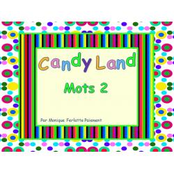 Cartes Candyland - Mots 2