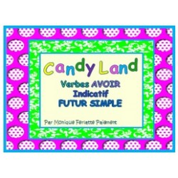 Cartes Candy Land Verbe Avoir Ind. Futur simple