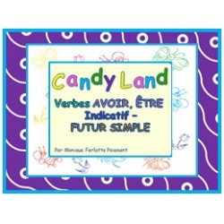 Cartes Candy Land Avoir et Être Ind. Futur simple