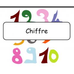 Mots étiquettes - Chiffre, Mois...