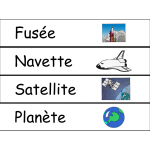 Mots étiquettes - Espace