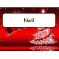 Mots étiquettes - Les fêtes de l'année
