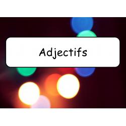 Mots étiquettes - Adjectifs et mots utiles
