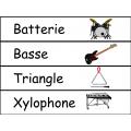 Mots étiquettes - musique