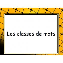 Les homophones et les classes de mots