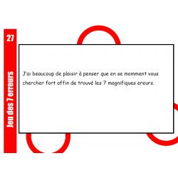 Jeu des 7 erreurs français