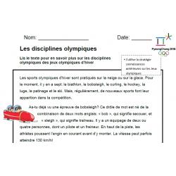 Situation de lecture - Les Olympiques