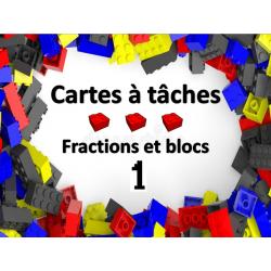 Cartes à tâches - Fractions blocs 1