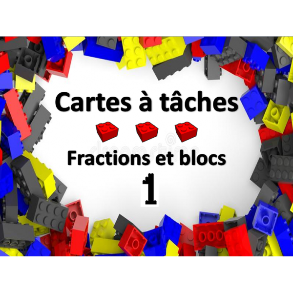 Cartes à tâches - Fractions blocs 1