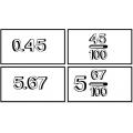 Jeu de mémoire fractions et nombres décimaux