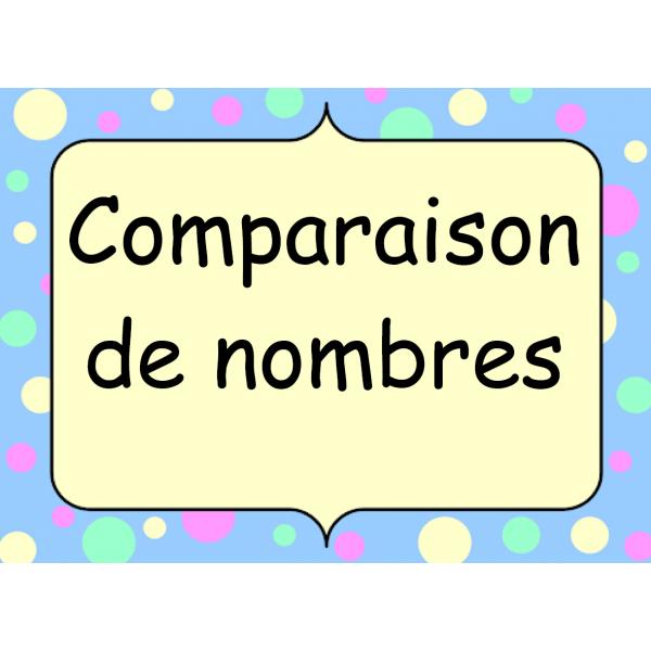 Comparaison de nombres