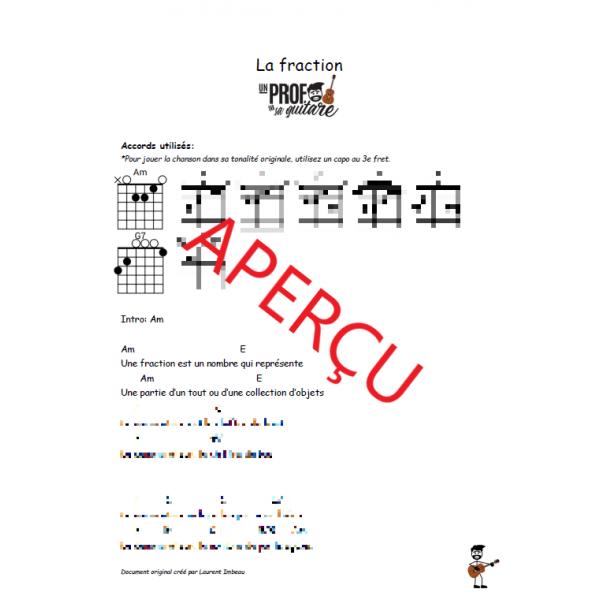 La fraction! - Accords de guitare